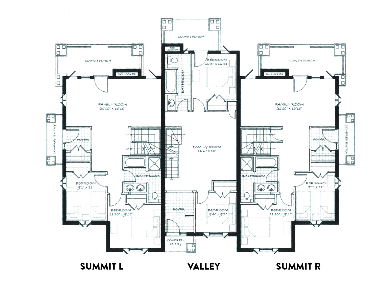 Timberwolf lodge harbourview homes for Townhome layouts